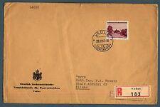 LIECHTENSTEIN - 1944 - Vedute diverse (4) - 1 fr. isolato su lettera - (MR)