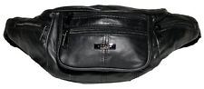 Mens Lorenz  Multi Zip Sheep Nappa Leather Bum Bag New And Tagged.Black