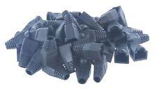 Black Cat5E Cat6 Rj45 Ethernet Network Cable Strain Relief Boots, 50 Pcs/Per Bag