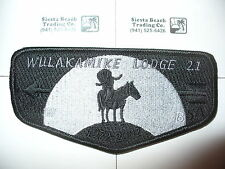 OA Wulakamike Lodge 21,S-21b,BLK & GRY,2002 Ghost Death Flap,128,Indianapolis,IN