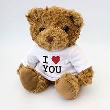 NEW - I Love You Teddy Bear - White T-Shirt - Romantic Gift - Valentine Present