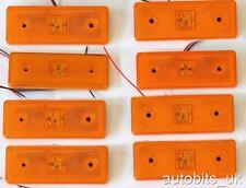 20 pz arancione AMBRA Indicatore Laterale Luce LED indicatore Rimorchio Camion Van Bus 12V