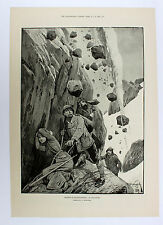 BERGSTEIGEN Steinschlag rockfall Avalange Lawine Mountaineering 1889 WOODVILLE