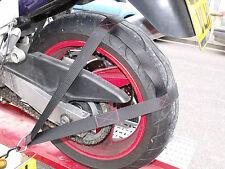 Motorcycle Motorbike tie down strap straps track day trailer Yamaha Suzuki