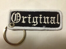 """ORIGINAL"" EMBROIDERY KEYRING EMBROIDERED PATCH BADGE KEY CHAIN CHROME RINGS"