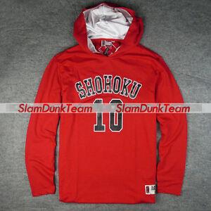 SLAM DUNK Shohoku School Team #10 Sakuragi Hoodie Hooded Sweatshirt Sweater RED