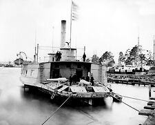 NEW Civil War Photo-U.S.S. Commodore Perry Converted from Ferry Boat to Gun Boat