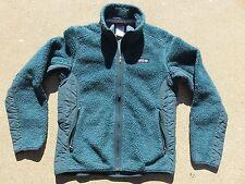 Womens PATAGONIA Retro Classic X Deep Pile Green Fleece Sweater Jacket Small