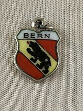 BERN Silver Travel Shield Enamel Charm