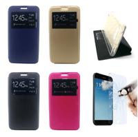 """Cover Custodia Pelle Libro Finestra No Solapa Per Samsung Galaxy A7 (2018) 4G 6"""""""