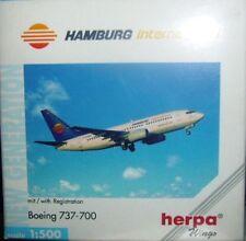 BOEING 737-700 HAMBURG INTERNATIONAL scala 1/500 HERPA (512565)
