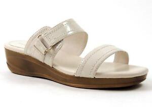Easy Spirit Women's Idell Slide Sandals Snow White Size 10 M