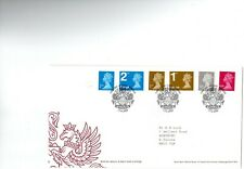 GB 2009 FDC £1, 50p, 1st Large, 1st, 2nd, Large 2nd. Definitives. WINDSOR Cancel