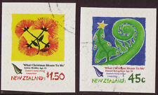 NEW ZEALAND 2006 CHRISTMAS SELF ADHESIVE BOOKLET PAIR FINE USED
