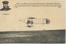 CARTE POSTALE / POSTCARD / LE BIPLAN H. FARMAN PILOTE PAR LE LIEUTENANT FEQUANT