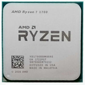 AMD Ryzen 7 1700 R7 1700 3.0 GHz 8C 16T 65W CPU Processor
