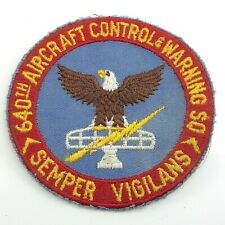 640th Aircraft Control Warning So Semper Vigilans Eagle Patch 4in J291
