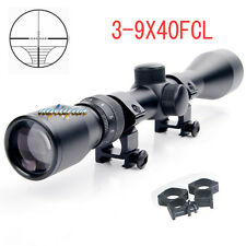Tactical 3-9x40 Optic Sniper Rifle Scope Sight&20mm High Mount For Hunting