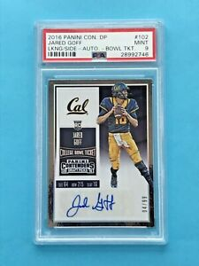 2016 CONTENDERS JARED GOFF RC AUTO /99 BOWL TICKET VARIATION PSA 9 #102 RAMS