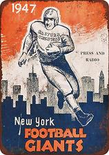1947 New York Football Giants Vintage Reproduction Metal sign 8 x 12