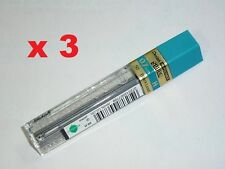 3x Pentel spare lead 0.7mm H refill leads 4 mechanical pencils replacement lead