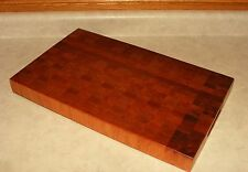 "NEW Reversible End Grain Wood Cutting Board 2"" Thick Hard Cherry Butcher Block"