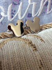 FREE GIFT BAG Mens Silver Disney Mickey Mouse Cufflinks Cuff Links Jewellery