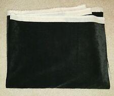 "FABRIC 55"" x 39"" Silky Soft BLACK VELVET on muslin Chair pillows Curtains solid"