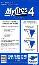 25 Mylites4 STANDARD 4 mil HEAVY DUTY Archival Mylar Comic Bags E. Gerber 725M4