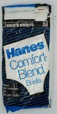 Vintage New! 1986 Pack Of 3 Hanes Comfort Blend Briefs Size 38