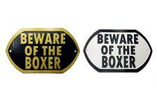 Beware Of The Boxer - 3D Printed Dog Plaque - Door Gate Garden Sign
