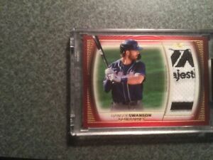 2021 Topps Definitive Jumbo Patch Red Relic 1/1 - Dansby Swanson (Braves)