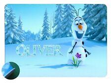 Olaf Frozen Personalised Place mat - Easy Wipe Clean EVA Sponge Backed