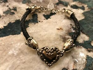 Brighton Heart And Leather Cord Bracelet