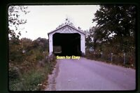 Covered Bridge in Vermillion County, Indiana in 1968, Original Slide aa 3-15b