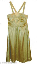 New Dress, BCBG Girls, Party-Dressy Green-Gold Shiny Crinkle  S
