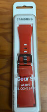 Authentic Samsung Silicone Active Band for Galaxy Gear S3 SM-R760 Smartwatch Red