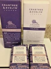 Crabtree Evelyn  LAVENDER & ESPRESSO CALMING Set - Lotion + Soaps + Hand Therapy