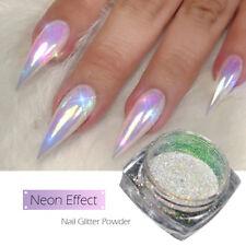SALE!! AURORA NAIL POWDER AB Unicorn NEON MIRROR Effect RAINBOW Crystal Opal