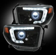 Recon 264294BKC Smoked Projector Headlights, For 14-16 Toyota Tundra