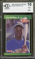 1989 Donruss Rookies #3 Ken Griffey Jr Mariners Rookie Card BGS BCCG 10 Mint+