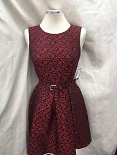 NINE WEST DRESS /new with tag/RETAIL$119/SIZE 8/LENGTH 37'/RED/BLACK