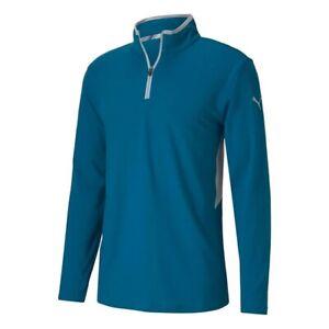 Puma Golf Rotation 1/4 Zip Midlayer Digi Blue Clearance 577900 UK Medium