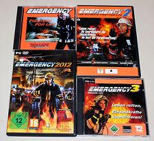 4 pc jeux collection-Emergency 1 2 3 2012-Pompiers vie SAUVETAGE AMBULANCE