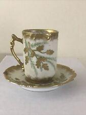Antique Laviolette Elite Limoges France Tea Cup & Saucer Gold Details Aa108