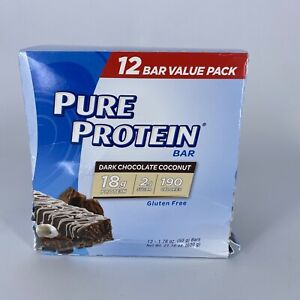 Pure Protein Bars High Protein 12 Count Dark Chocolate Coconut Shipped W Cold Pk