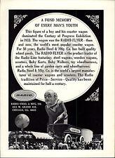 1967 PAPER AD Radio Coaster Wagon 50 Year Anniversary Century Of Progress