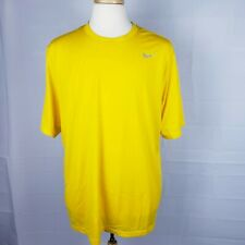 Mens Nike Dri-Fit t shirt yellow casual solid athletic xl tee active extra large