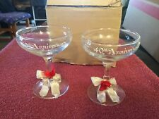 set of 40th anniversary wine glasses