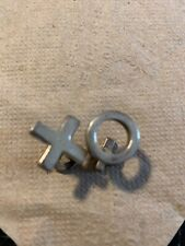 Silver Cufflinks Tic Tac Toe/ Hugs And Kisses Design X & O